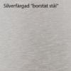 "Silverfärgad ""borstat stål"""