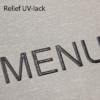 Relief UV-lack